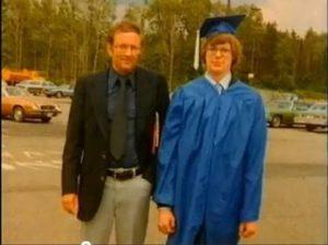 Jeffrey podczas ukończenia liceum